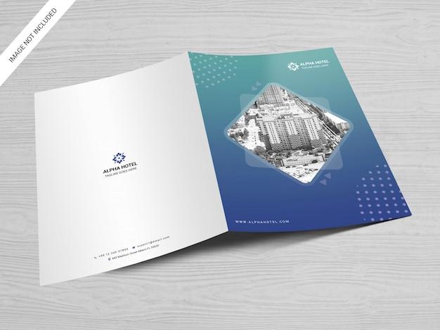 Maquete de pasta de apresentação Psd Premium