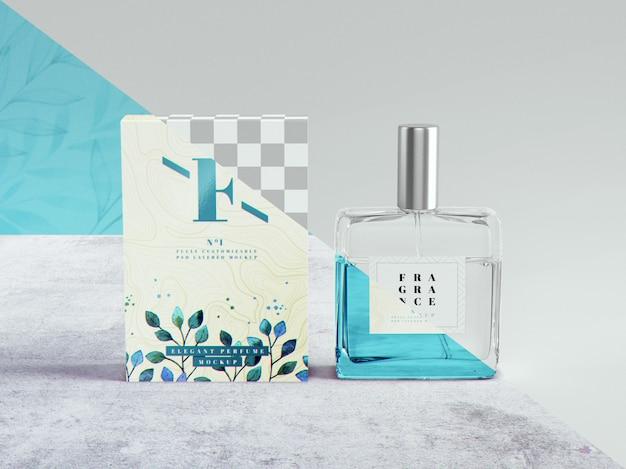 Maquete de perfume e embalagem Psd Premium