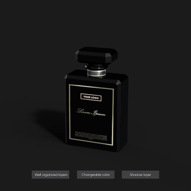 Maquete de perfume em design de renderização 3d Psd Premium