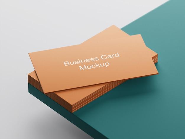 Maquete de pilha de cartão de visita Psd Premium