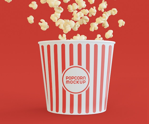 Maquete de pipoca de cinema Psd grátis