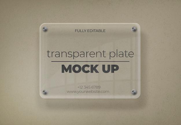 Maquete de placa transparente Psd grátis