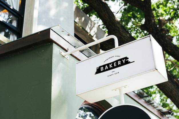 Maquete de placas de sinal de restaurante Psd grátis