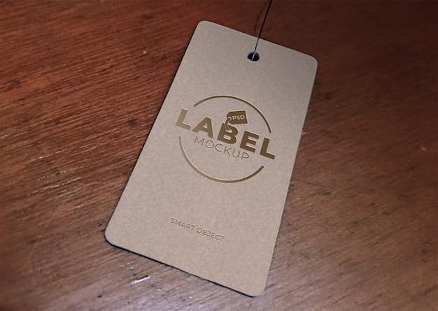 Maquete de preço ou etiqueta Psd Premium