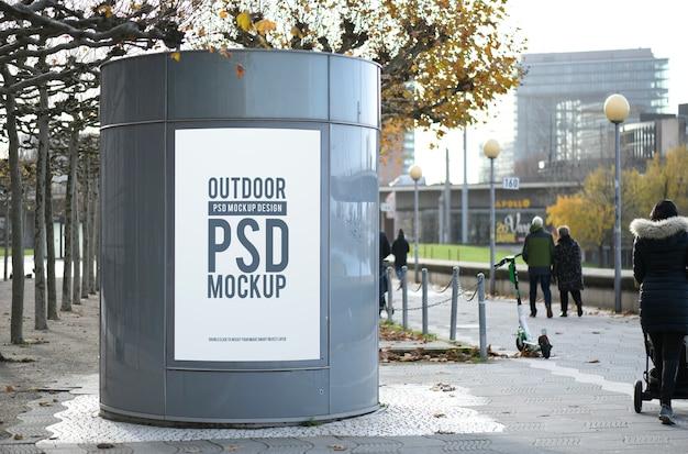 Maquete de publicidade de rua Psd Premium