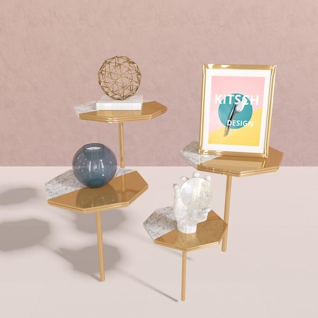 Maquete de quadro com conceito kitsch Psd grátis