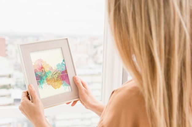 Maquete de quadro com o conceito de arte studio Psd grátis