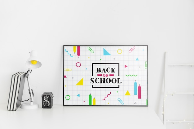 Maquete de quadro com volta ao conceito de escola Psd grátis