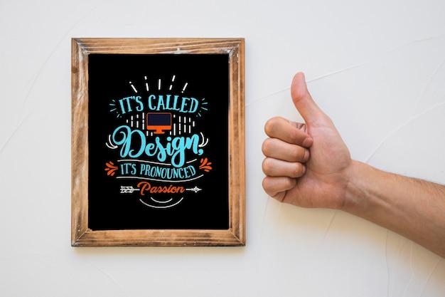Maquete de quadro criativo com o conceito de citação Psd grátis