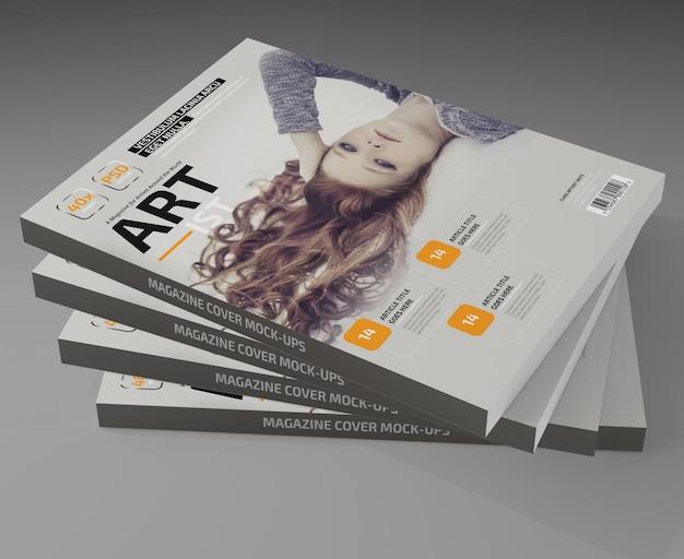Maquete de revista foto-realista Psd Premium