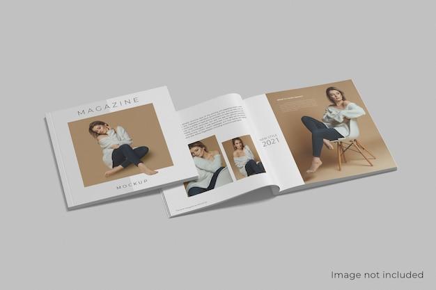 Maquete de revista quadrada realista isolada Psd Premium