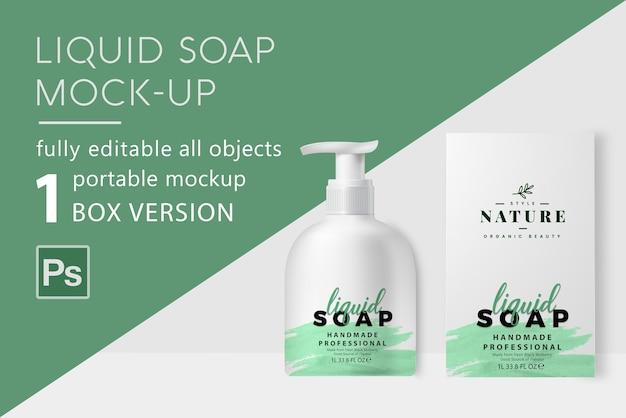 Maquete de sabonete líquido Psd Premium