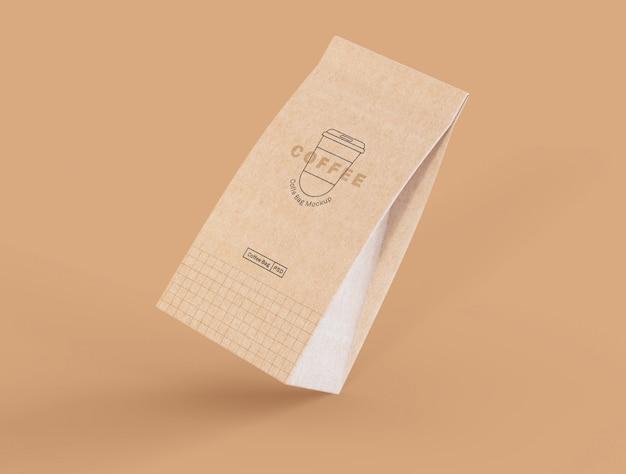 Maquete de saco de café de papel Psd grátis