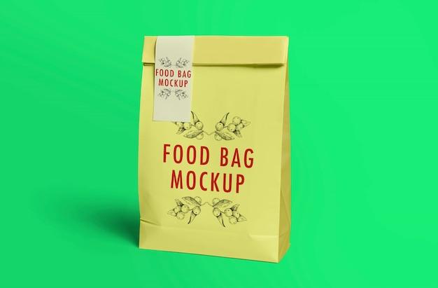 Maquete de saco de comida Psd Premium