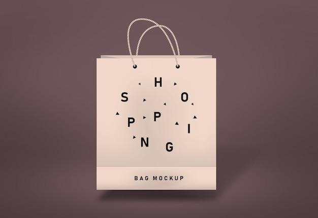 Maquete de saco de compras maquete de saco de papel Psd Premium