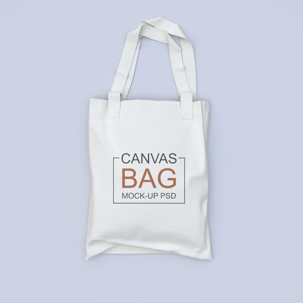 Maquete de saco de lona Psd Premium