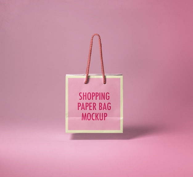 Maquete de saco de papel de compras Psd Premium