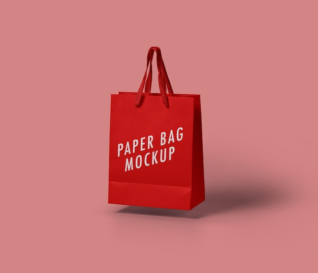 Maquete de saco de papel Psd Premium
