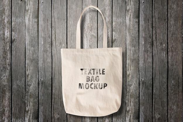 Maquete de saco têxtil Psd Premium