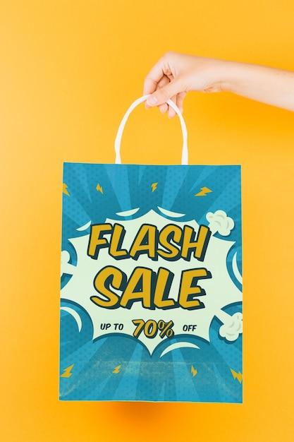 Maquete de sacola de compras Psd grátis