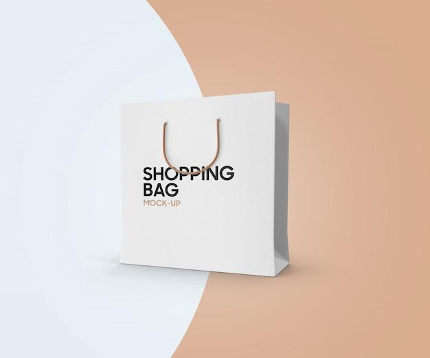 Maquete de sacola realista Psd Premium