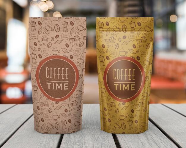 Maquete de sacos de café Psd grátis