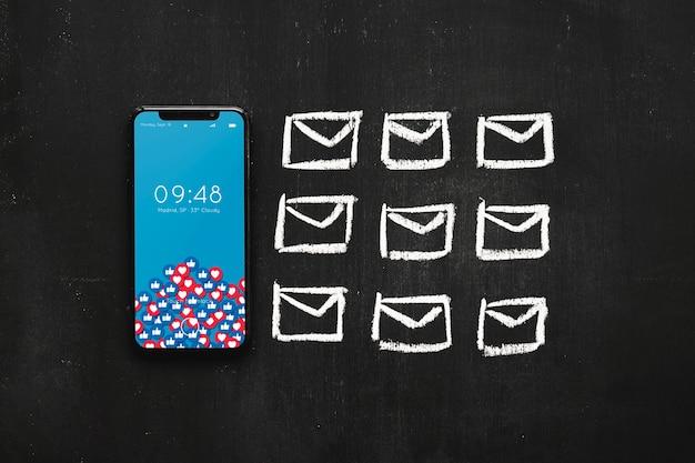 Maquete de smartphone com o conceito de internet Psd grátis