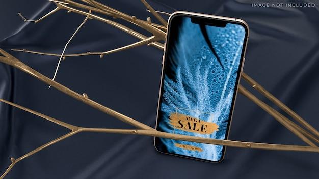 Maquete de smartphone móvel para identidade de marca Psd Premium
