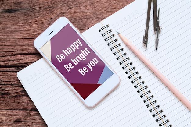 Maquete de smartphone para suas cotações de negócios Psd Premium