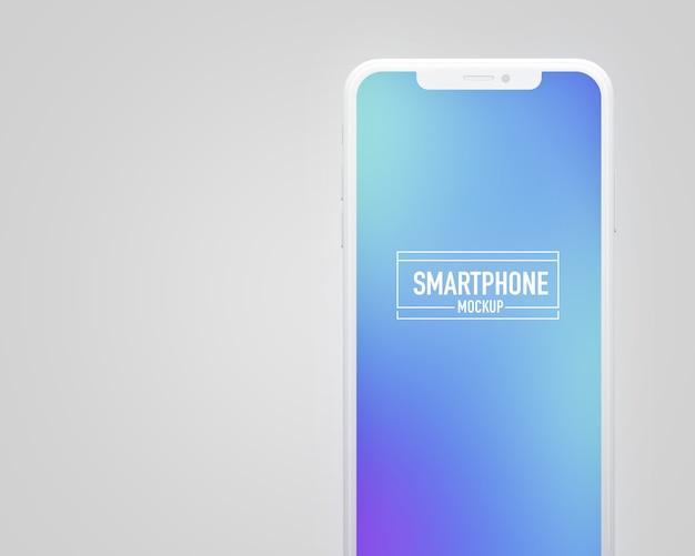 Maquete de smartphone realista. maquete de smartphone limpo Psd Premium