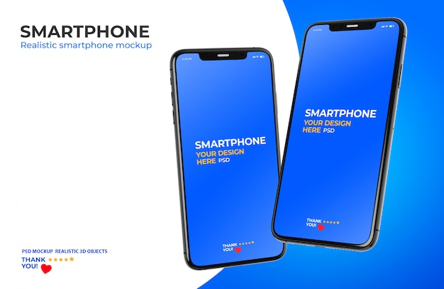 Maquete de smartphone Psd Premium