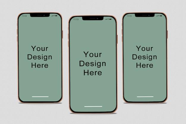 Maquete de smartphones Psd Premium