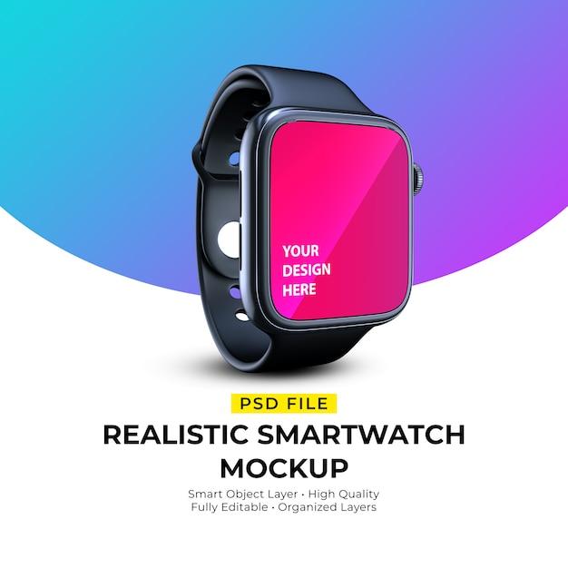 Maquete de smartwatch elegante realista Psd Premium