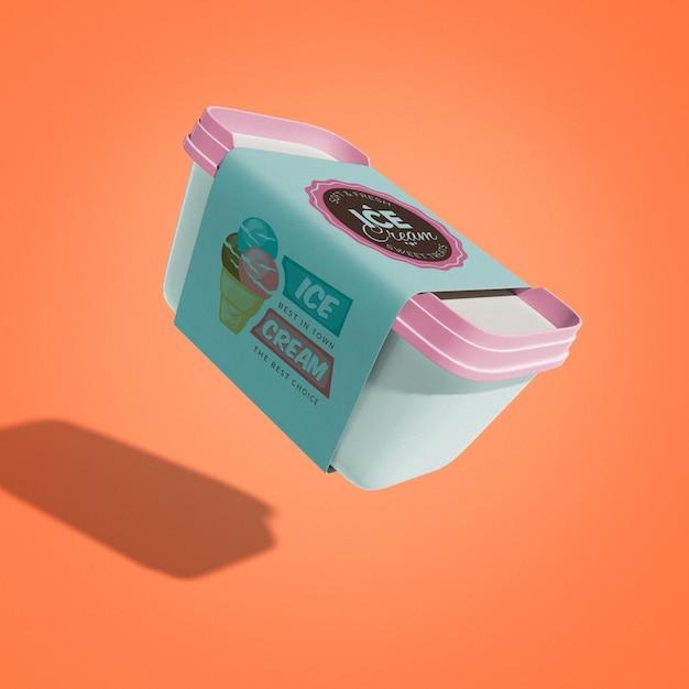 Maquete de sorvete flutuante Psd grátis