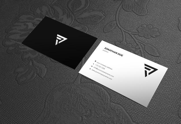 Maquete de superfície businesscard fundo rosa vintage Psd Premium