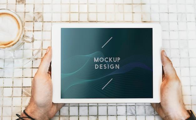 Maquete de tablet digital Psd grátis