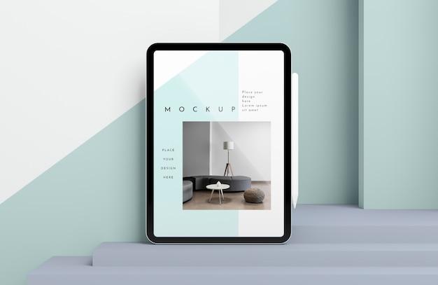 Maquete de tablet moderno com apresentação de caneta Psd grátis