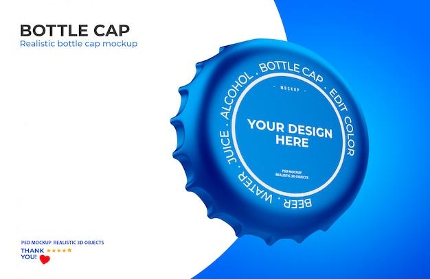 Maquete de tampa de garrafa Psd Premium