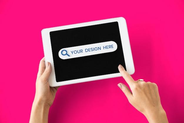 Maquete de tela digital tablet Psd Premium