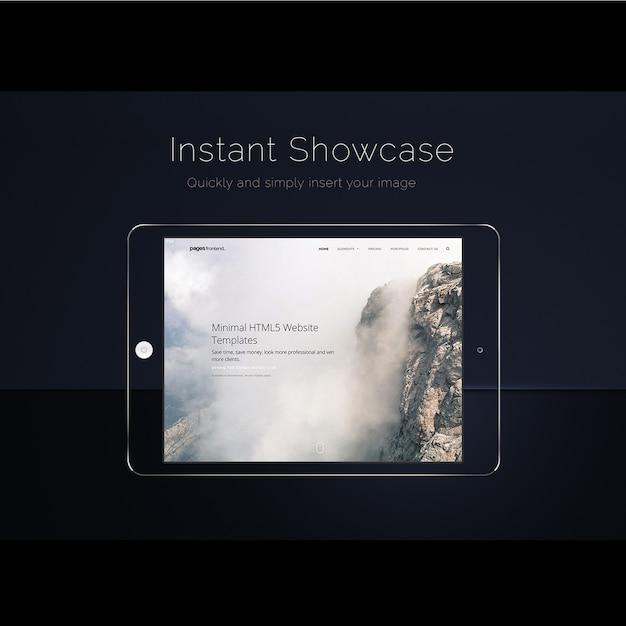 Maquete de tela do ipad para cima Psd grátis