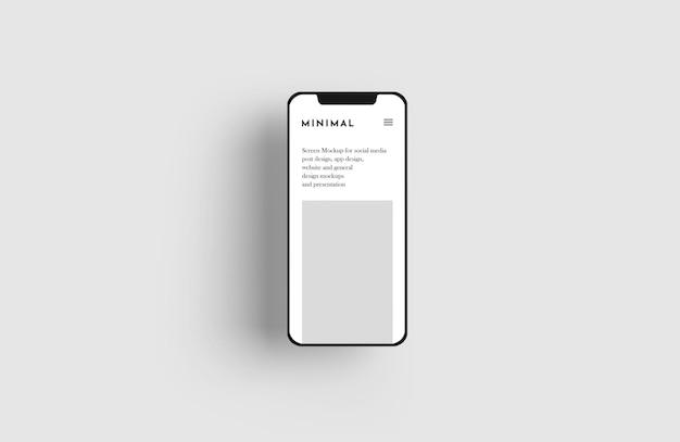 Maquete de tela do smartphone Psd grátis