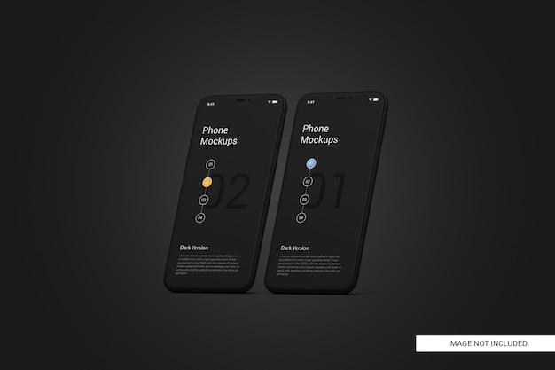 Maquete de tela do telefone móvel preto Psd Premium