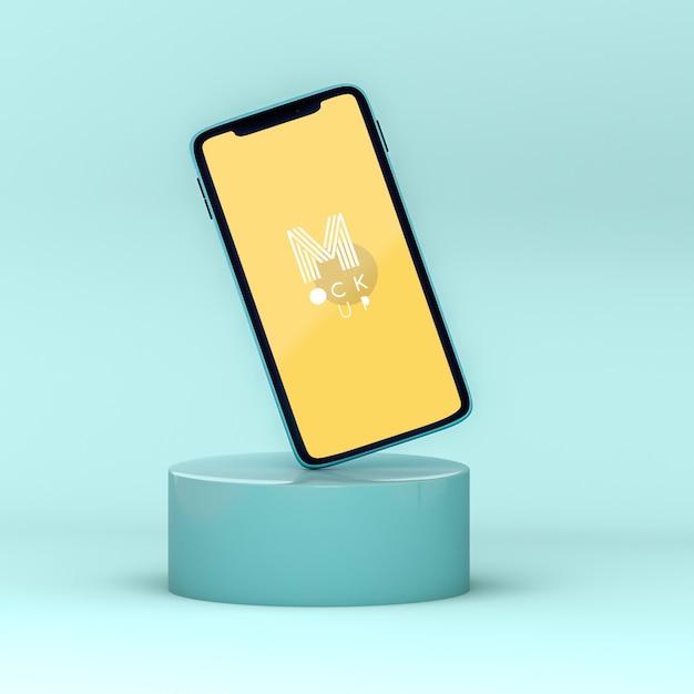 Maquete de telefone pop 3d Psd grátis