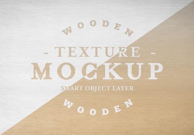 Maquete de textura de madeira Psd Premium