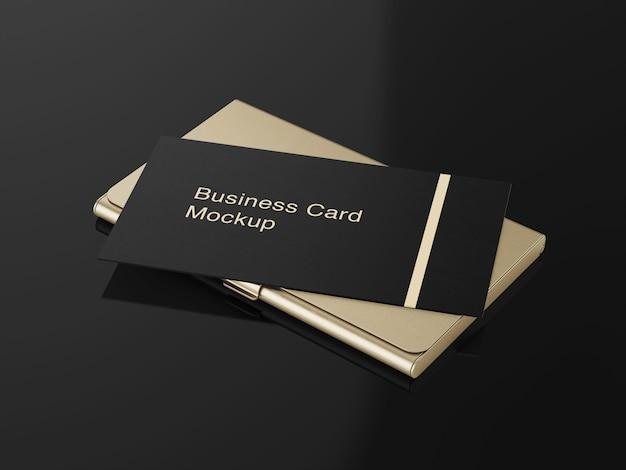 Maquete de titular de cartão de visita de luxo Psd Premium