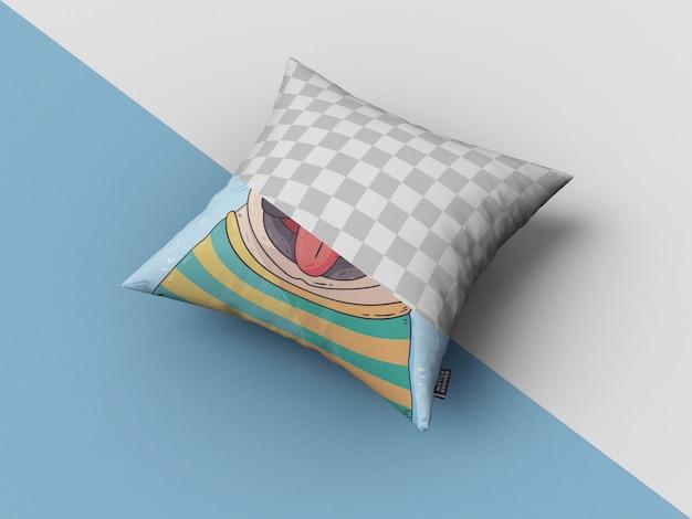 Maquete de travesseiro quadrado Psd grátis