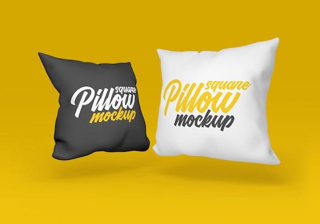 Maquete de travesseiro quadrado Psd Premium