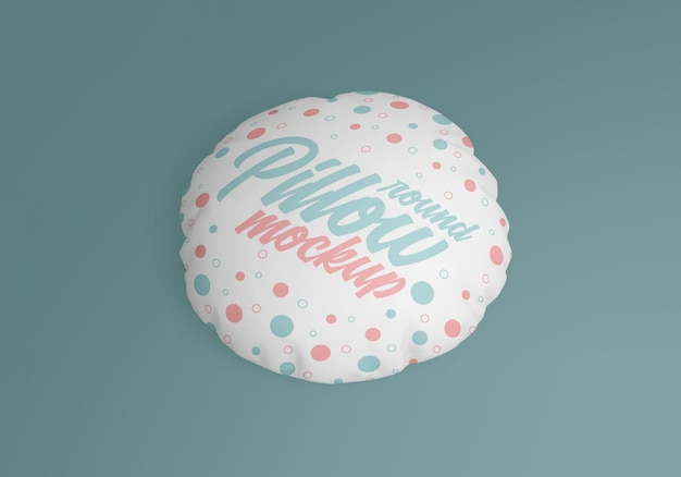 Maquete de travesseiro redondo Psd Premium