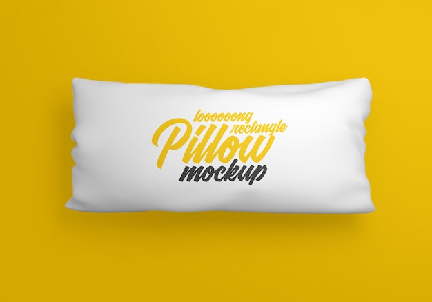 Maquete de travesseiro retangular longo Psd Premium