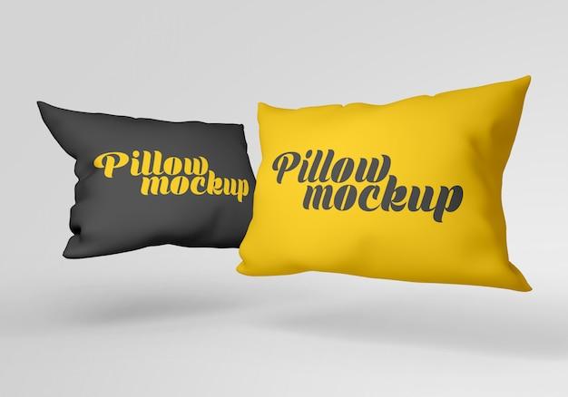 Maquete de travesseiro retangular Psd Premium